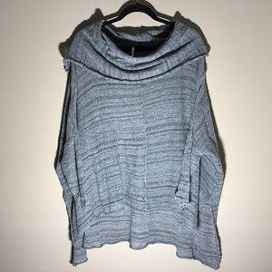 Free People Cowl Neck Sweater. Grey. Small.